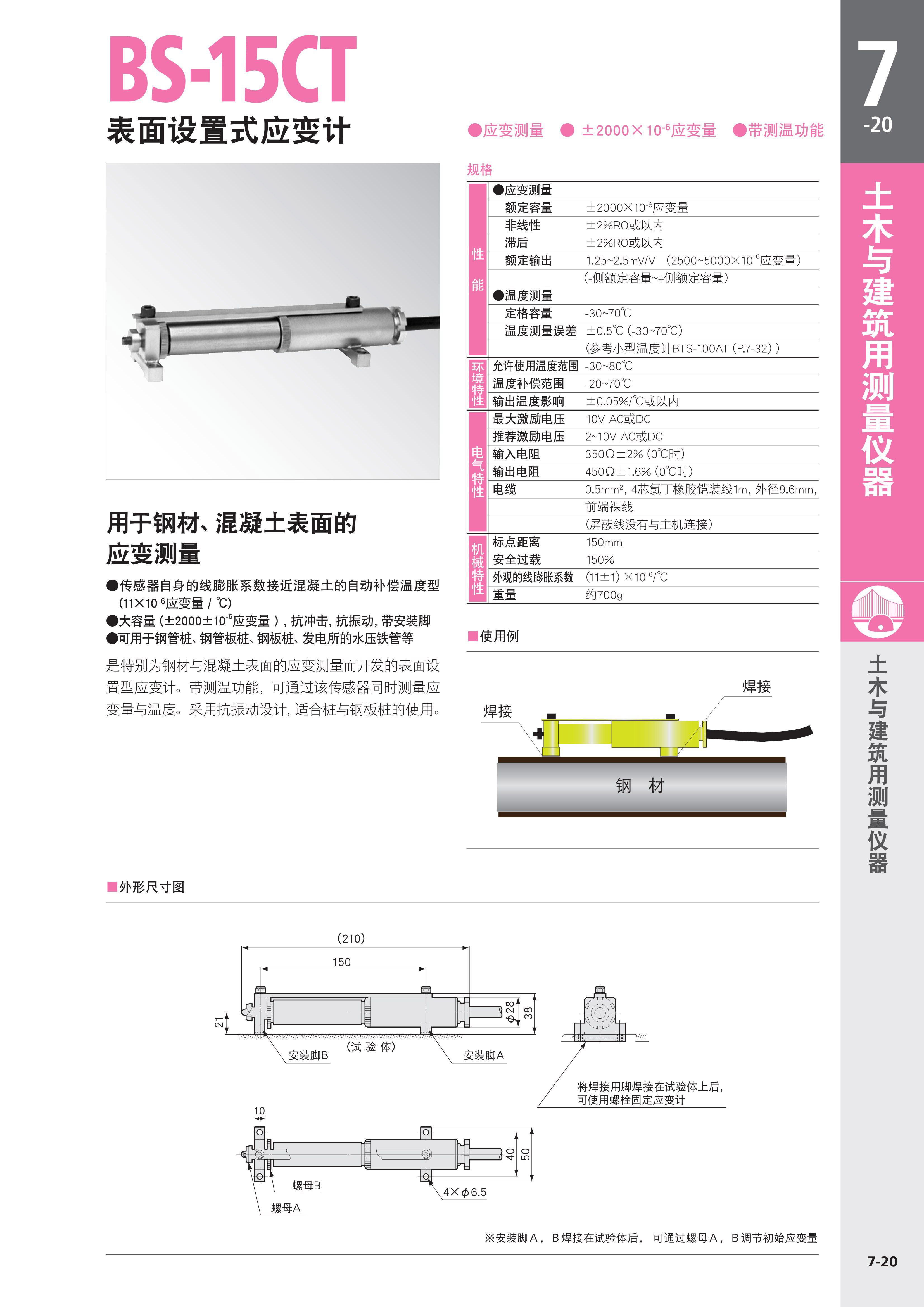 BS-15CT表面设置式应变仪