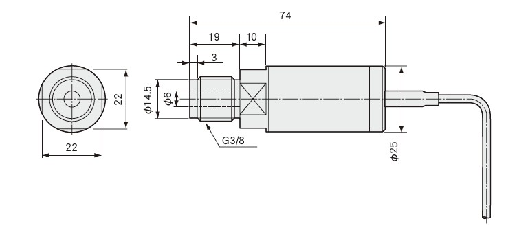 PHS-B压力传感技术安装尺寸图