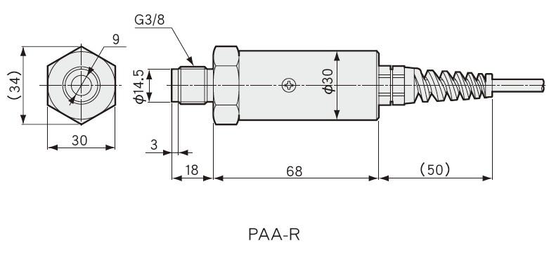 PAA-R外观安装尺寸图