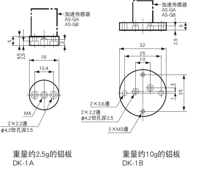 AS-GA小型低容量加速度传感器