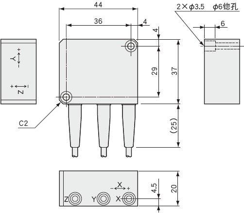 AS-TB 3轴加速度传感器