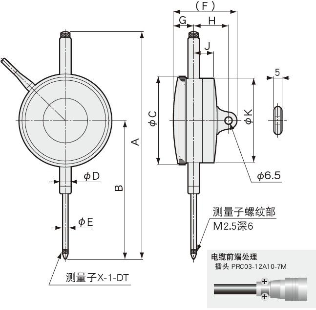 DT-D指针式位移传感器-日本kyowa