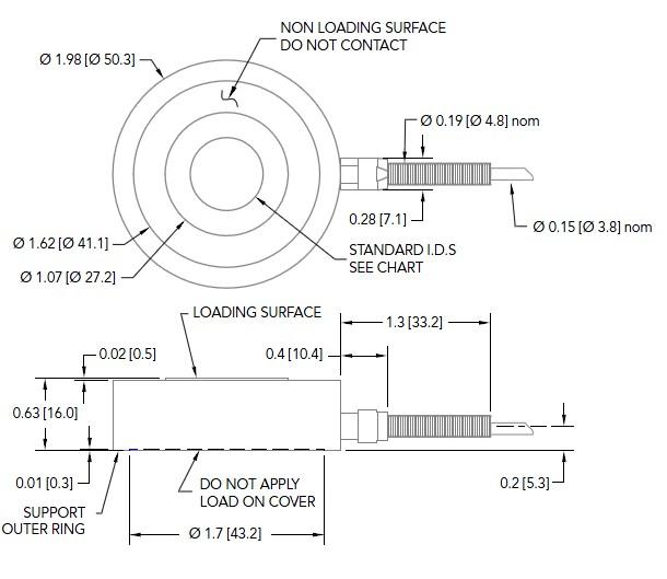 LTH400测力传感器外形安装尺寸图