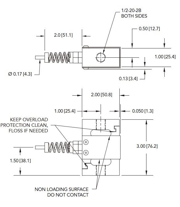 LSB352S型拉压力传感器-美国Futek(福泰克)