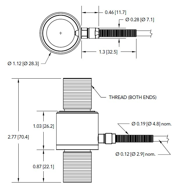 LCM375轴向拉压力传感器美国Futek(福泰克)