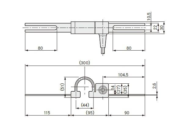 BCD-5B裂缝位移计外型安装尺寸图
