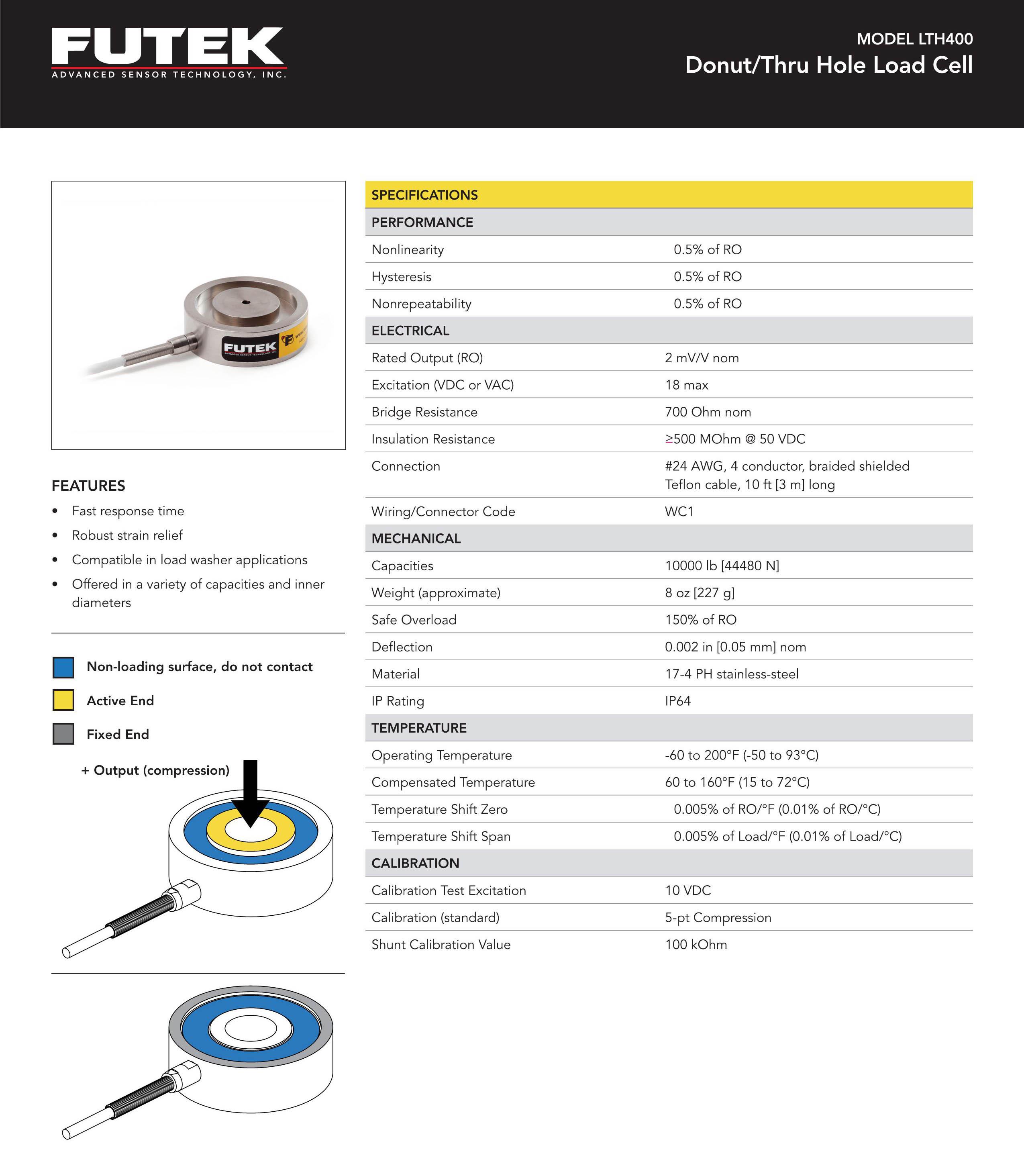 LTH400测力传感器-美国Futek