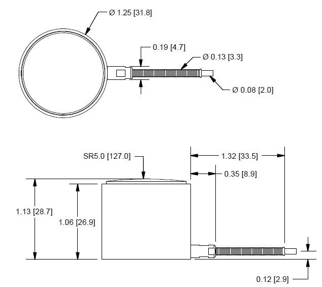 LCA310微型圆柱式测力传感器