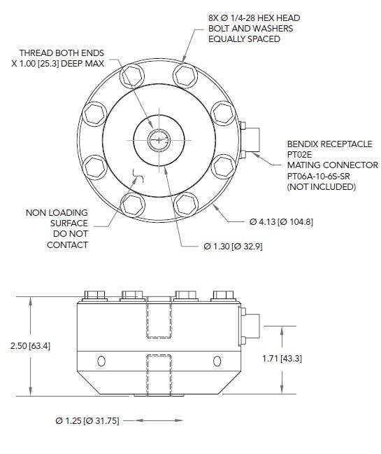 LCF455拉压力传感器-轮辐式大量程,高精度传感器_美国FUTEK