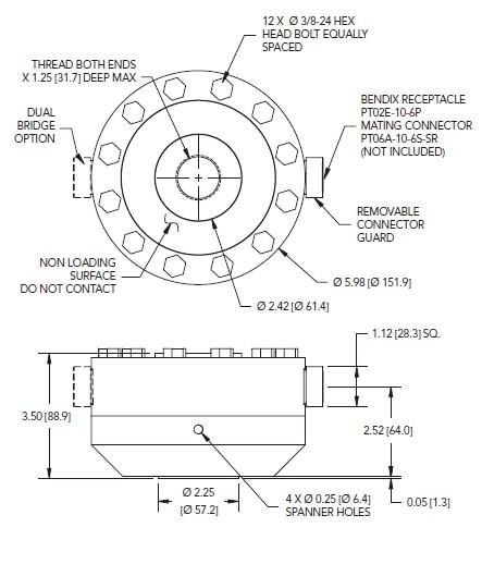 LCF505拉压力传感器轮辐式_美国FUTEK