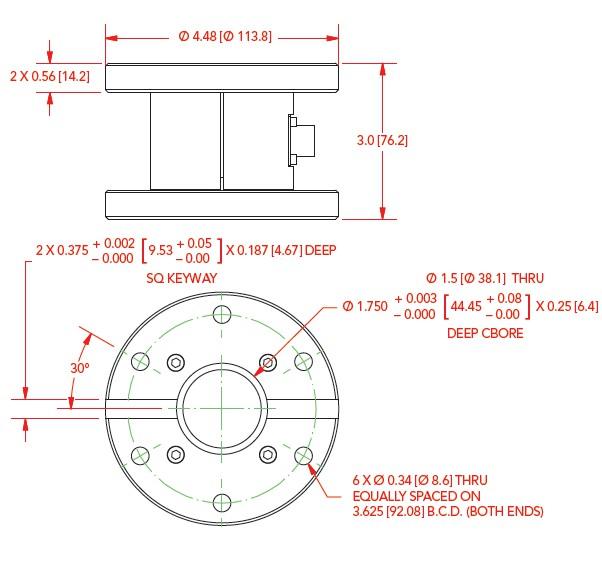 TFF600静态扭矩传感器法兰式