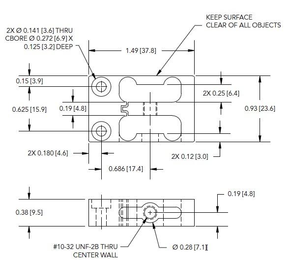 LSM250测力传感器外形安装尺寸图<