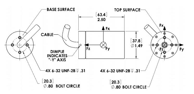 FS6微型六轴力传感器_美国AMTI