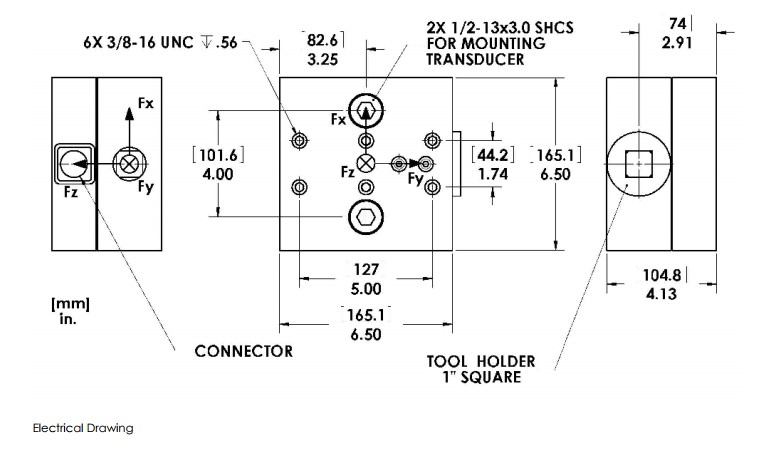 MCL6切削力传感器(多轴)_美国AMTI车床切削力测试