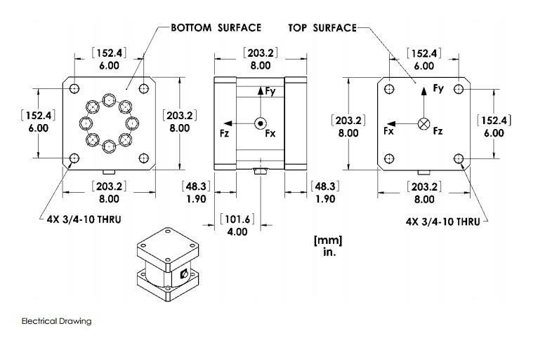 MC8大量程六轴力传感器