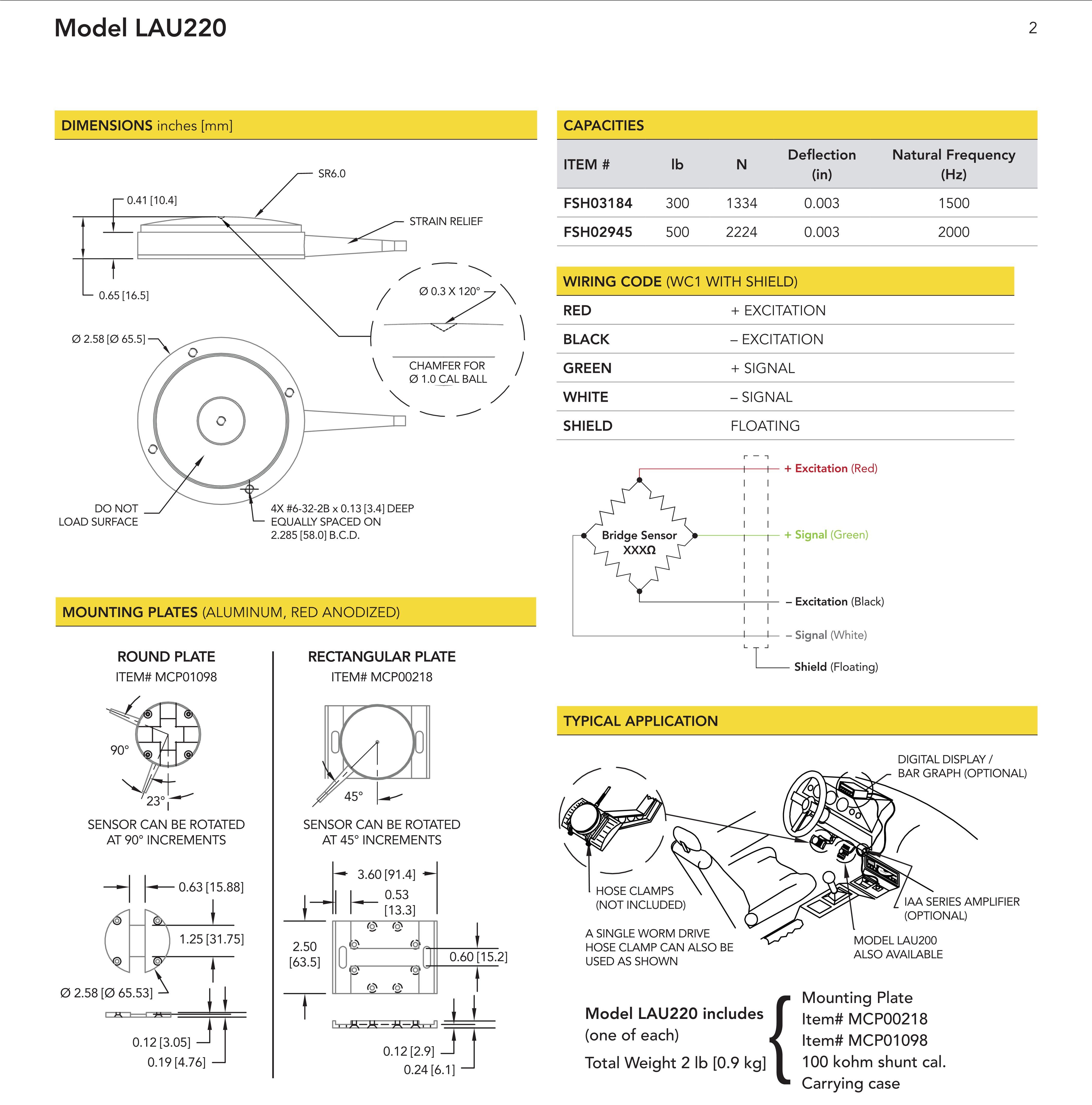 LAU220踏板力传感器说明书
