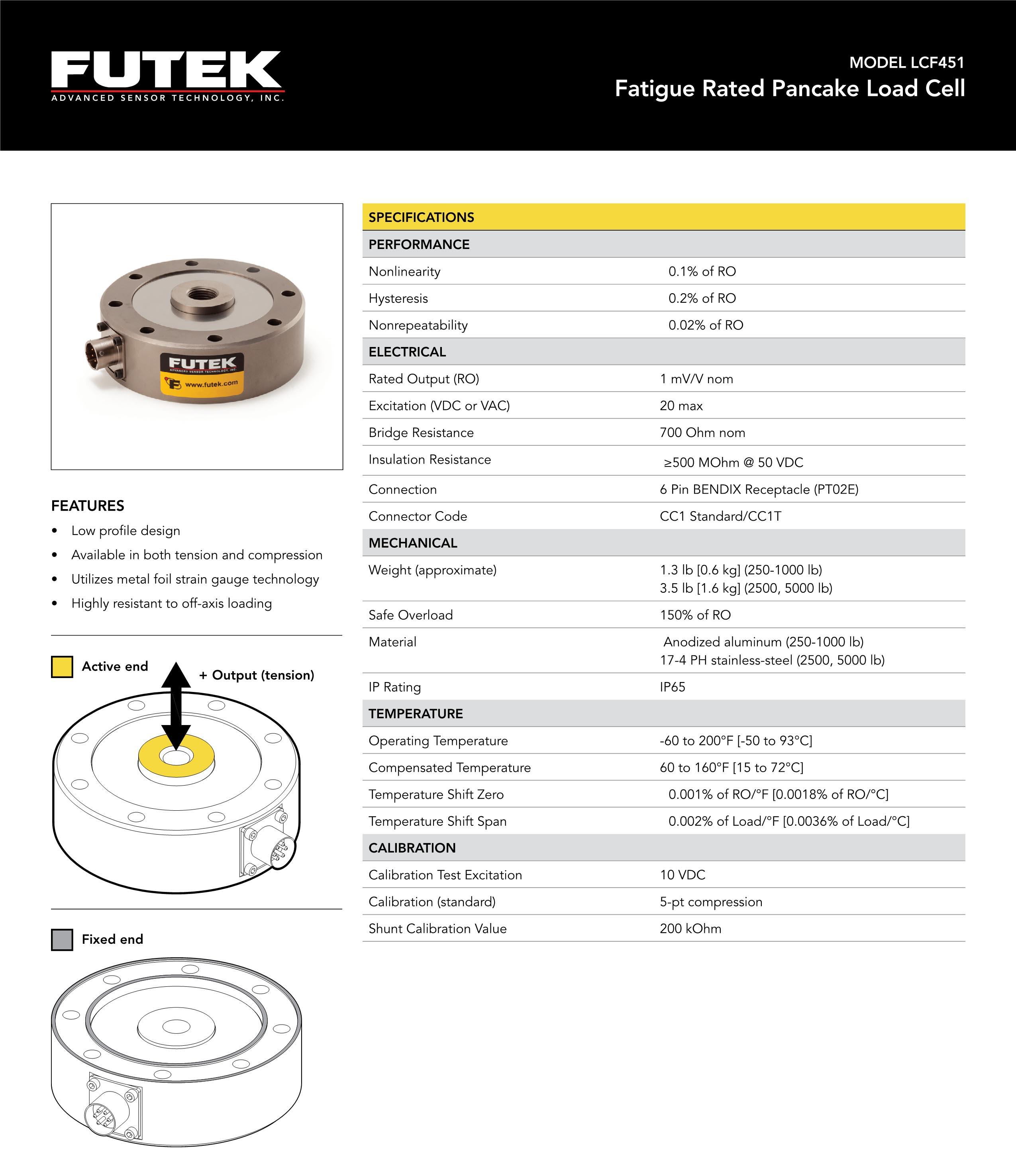 LCF451轮辐式拉压力传感器