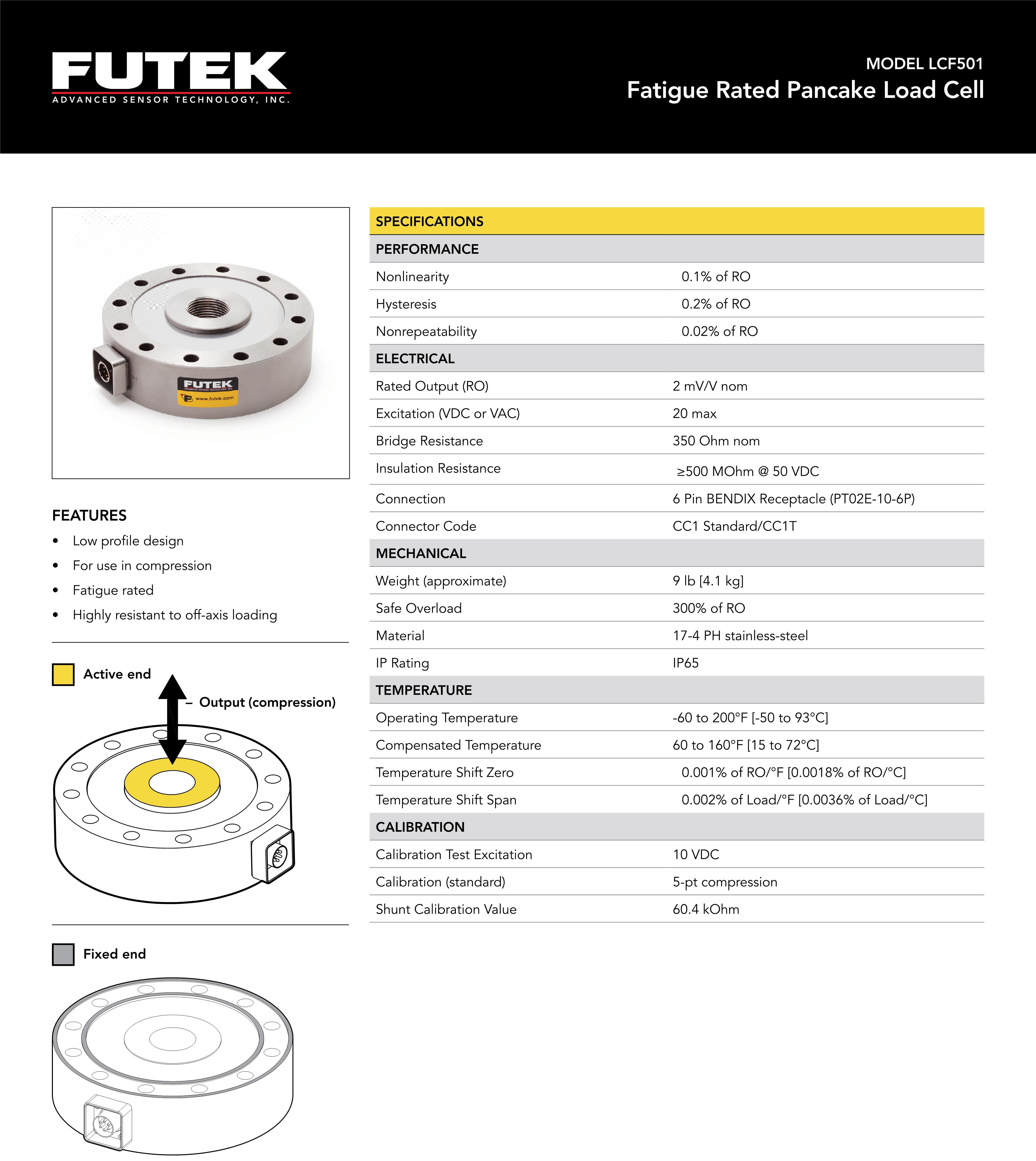 LCF501拉压力传感器说明书