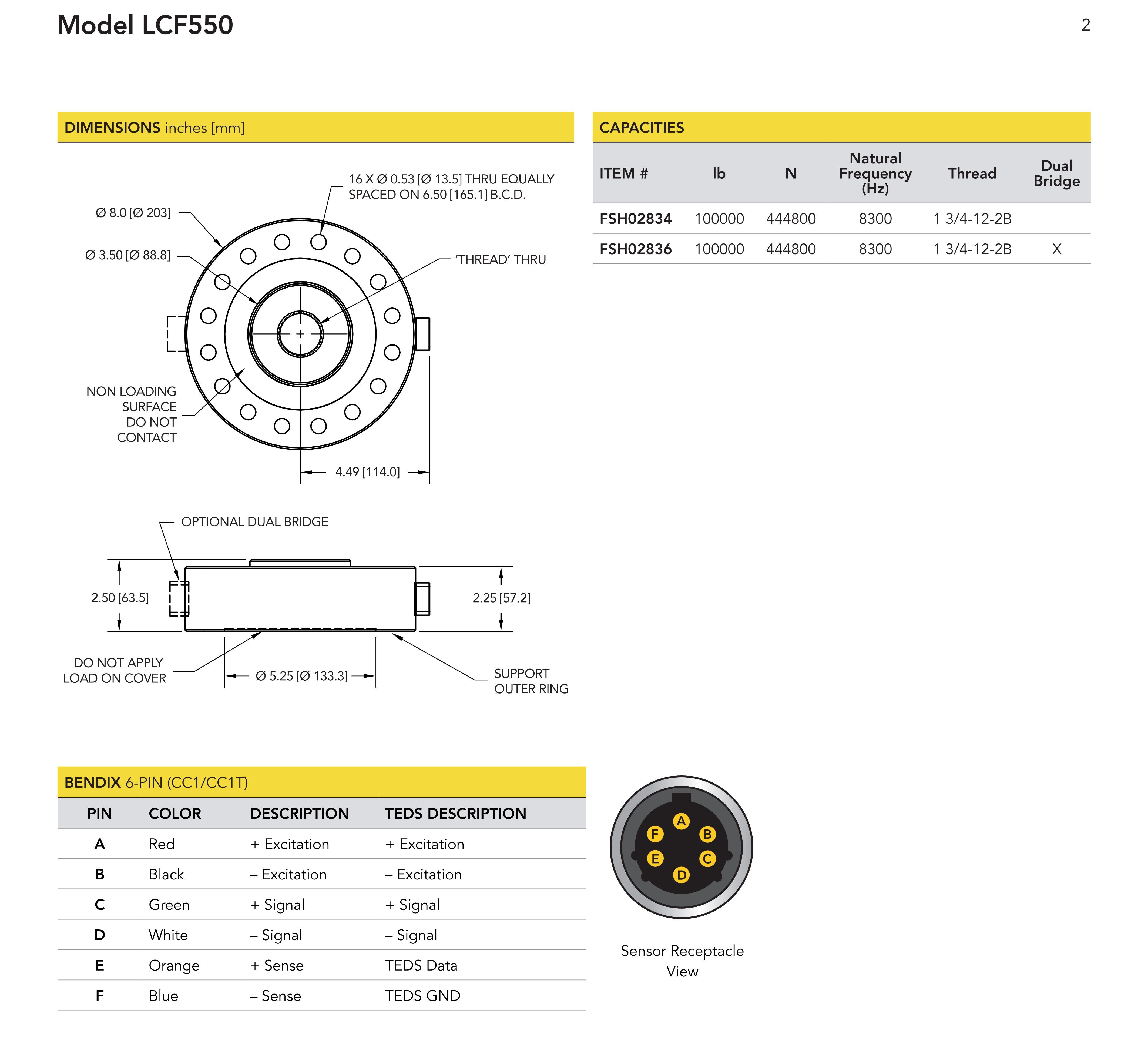 LCF550轮辐式拉压力传感器超大量程