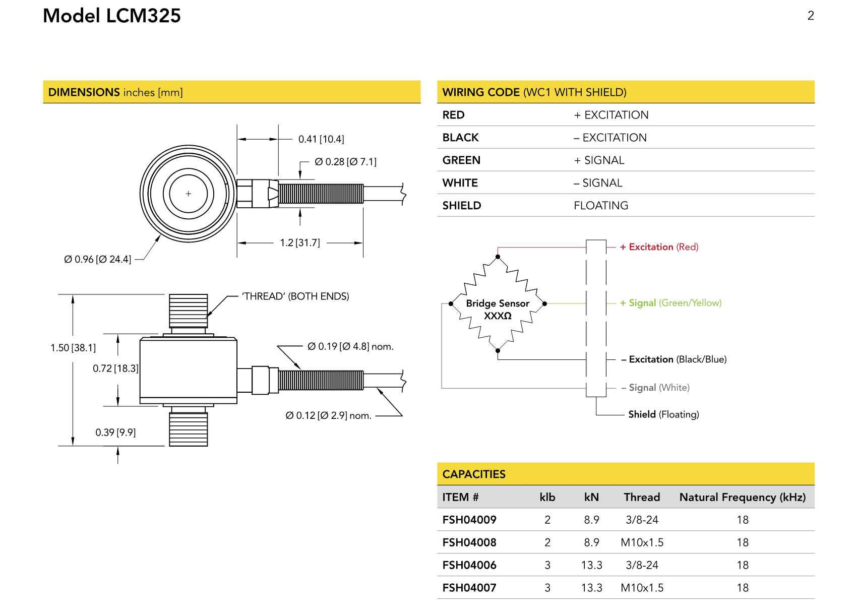 LCM325力传感器 微型结构设计锈钢材质轴向拉压力传感器