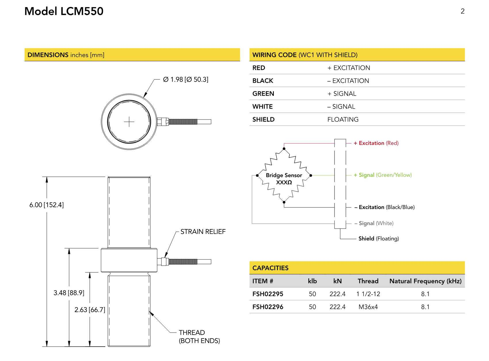 LCM550大量程力传感器 LCM550轴向拉压型应变式力传感器