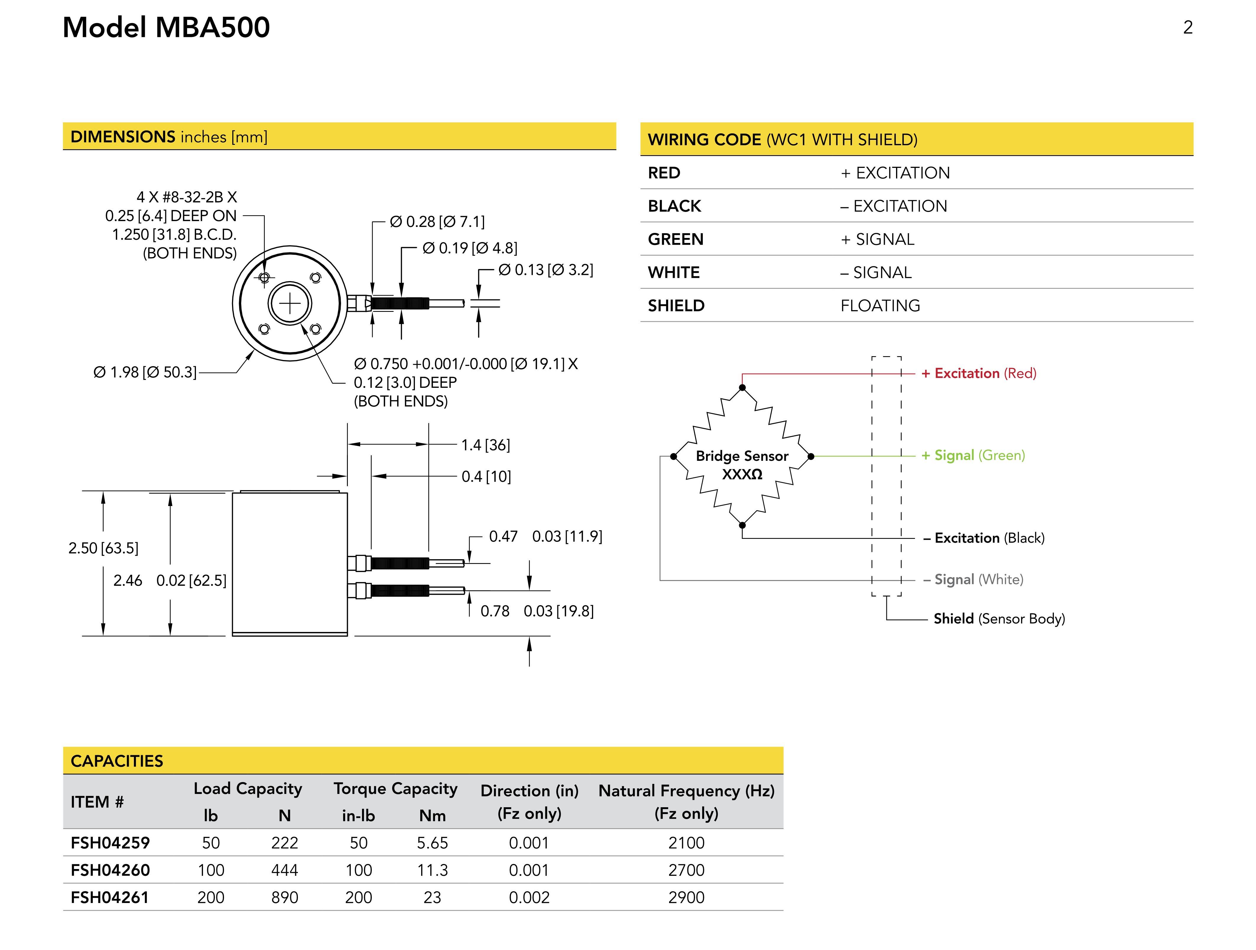 MBA500拉扭二轴力传感器美国FUTEK