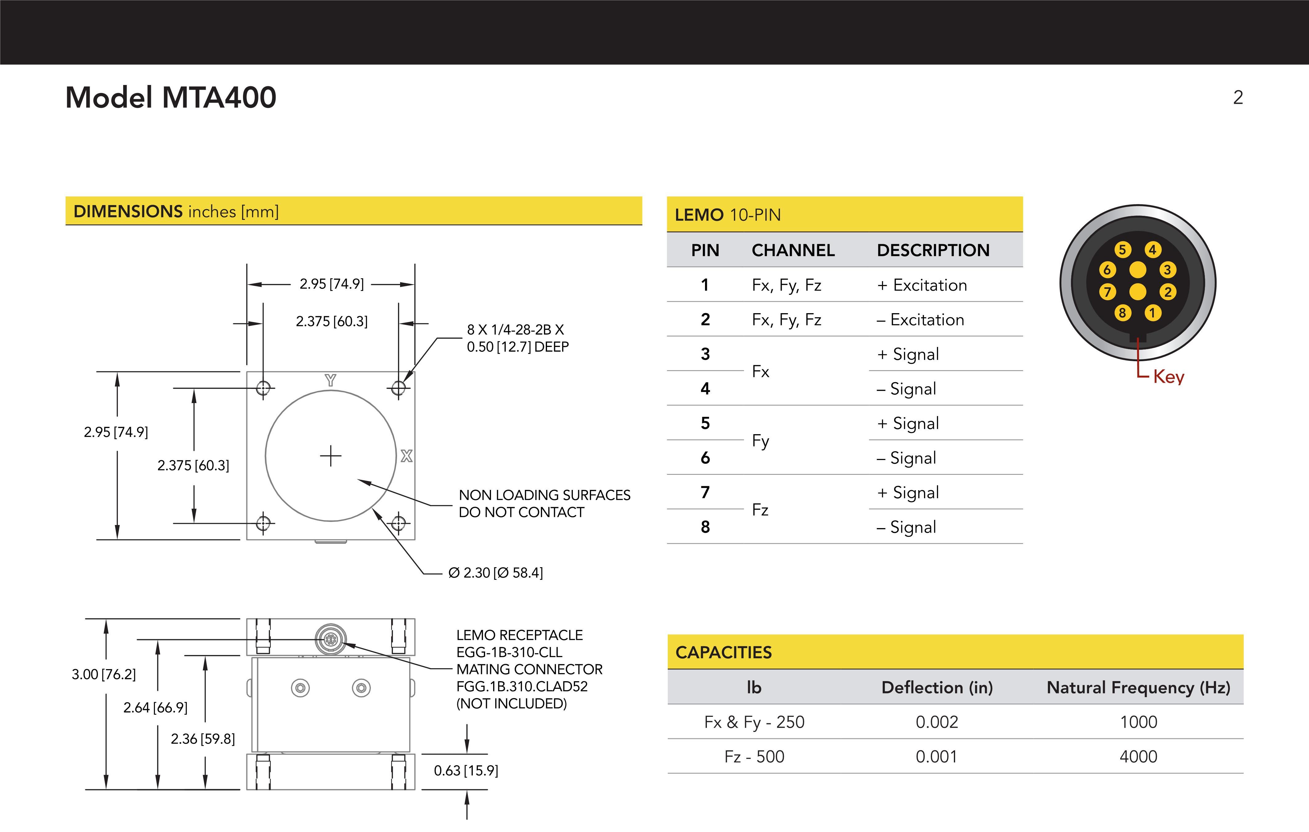 MTA400三维力传感器说明书