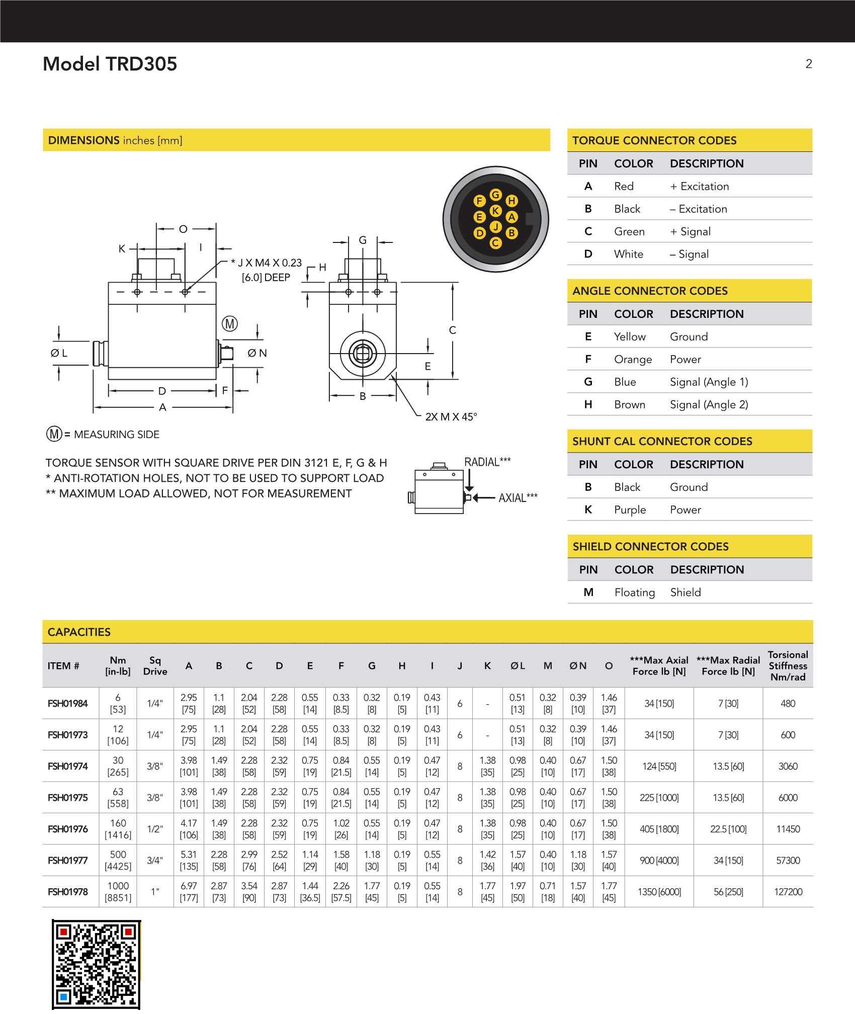 TRD305扭矩传感器-动态动旋转式四方驱动头传感器