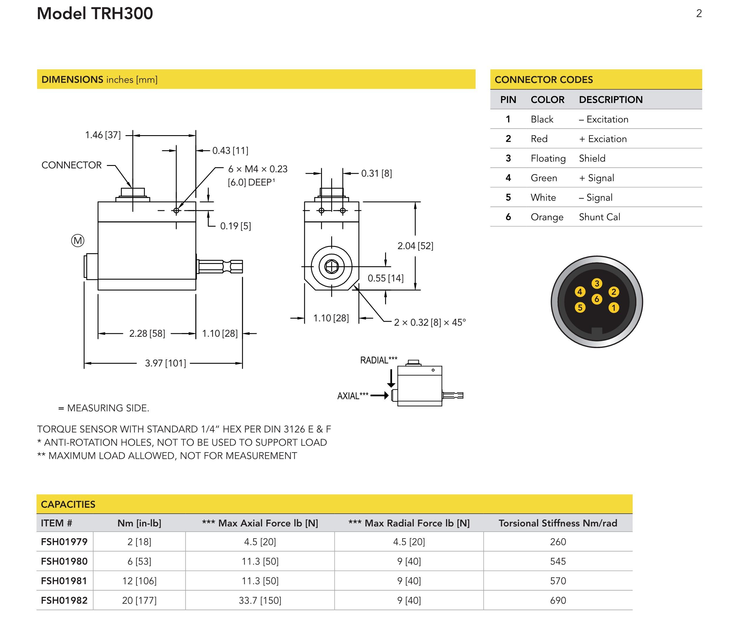 TRH300扭矩传感器(六角头驱动)