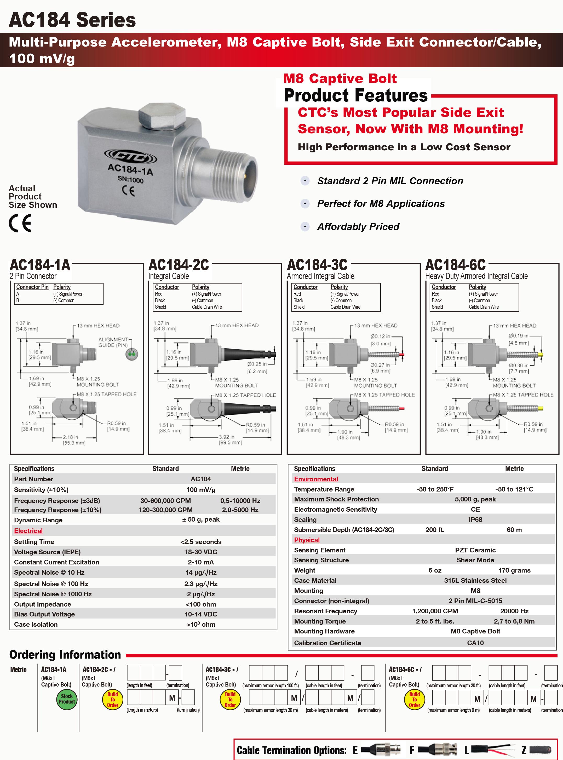 AC184-1A/2C/3C/6C通用型加速度振动_美国CTC