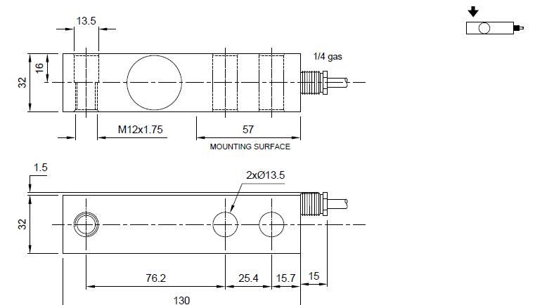 FT-P剪切梁式称重传感器