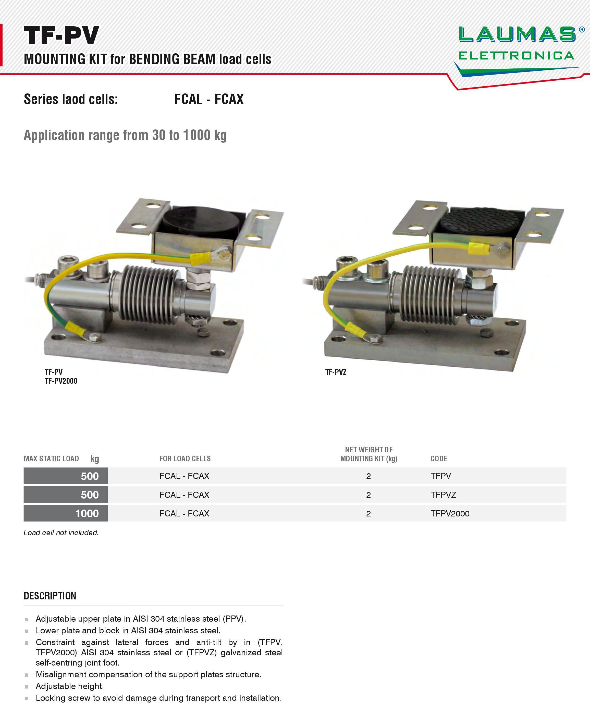TF PV-Z称重模块_意大利laumas