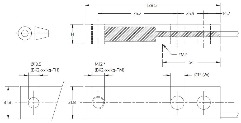 BK2称重传感器_BK2-200kg梁式称重传感器_德国FLINTEC(富林泰克)