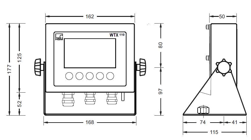WTX110-A称重仪表_坚固的贸易秤用终端_德国HBM