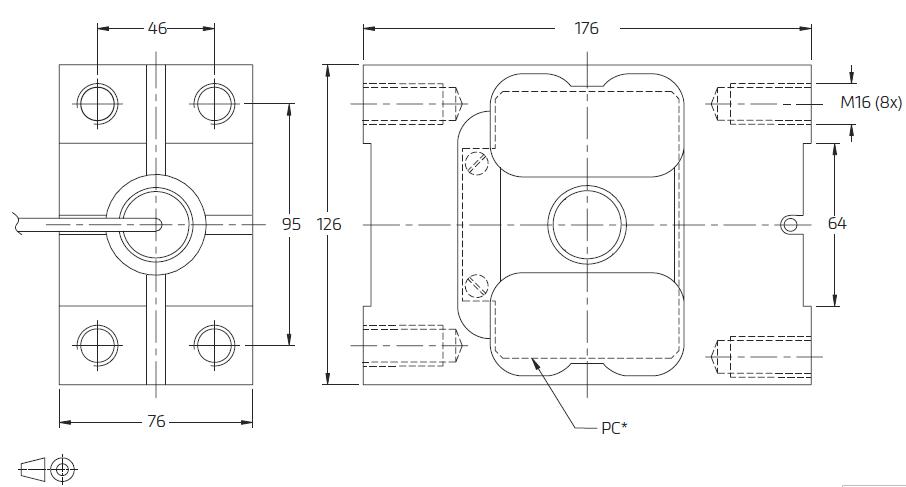 PC2H-2000kg单点称重传感器_德国FLINTEC(富林泰克)