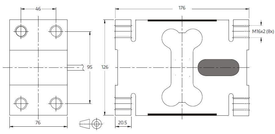 PC81-2000kg-G3单点称重传感器-德国FLINTEC(富林泰克)