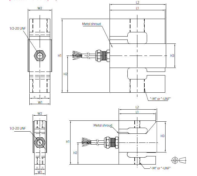 UXT-2000kg张力称重传感器UXT(50-7500)kg