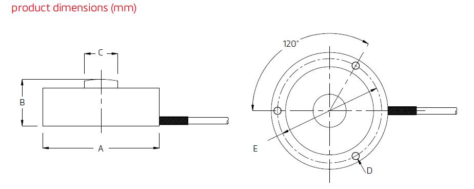 MBA-10000lb微型力传感器 德国FLINTEC(富林泰克)