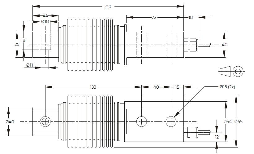 SB8L-500KG-C3德国FLINTEC SB8L波纹管称重传感器