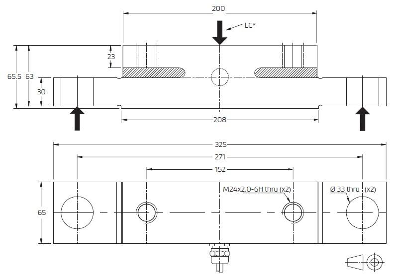 SBT-10000kg称重传感器_德国富林泰克FLINTEC