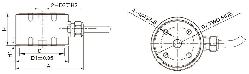 CP119柱式称重传感器(1kN~30kN)不锈钢AiLogics传感器