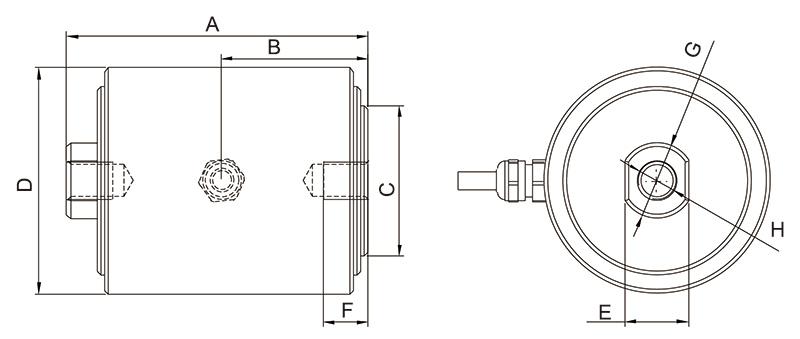 CP1柱式称重传感器(5kg〜5t)_AiLogics