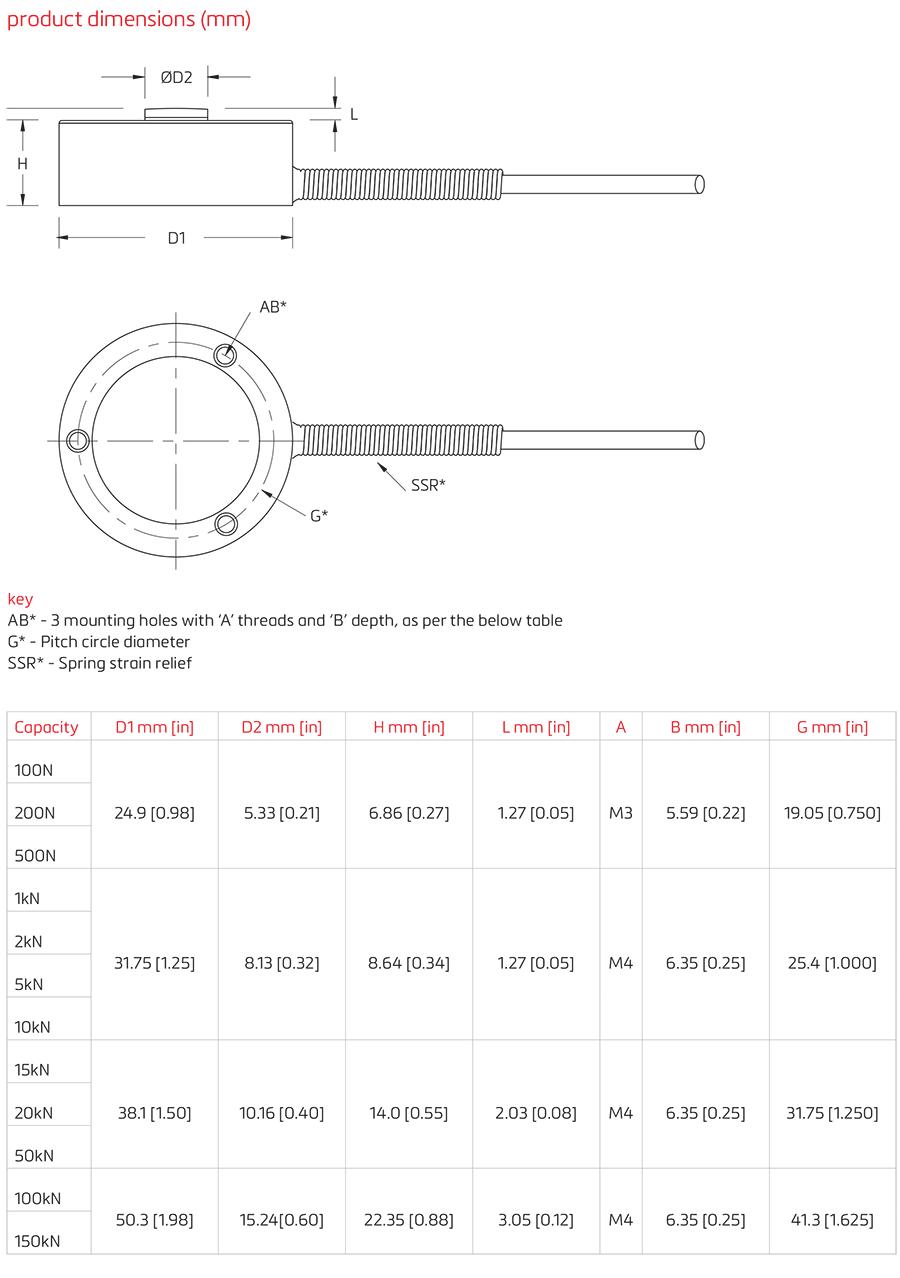 MK微型力传感器(100N-150kN)_德国FLINTEC(富林泰克)
