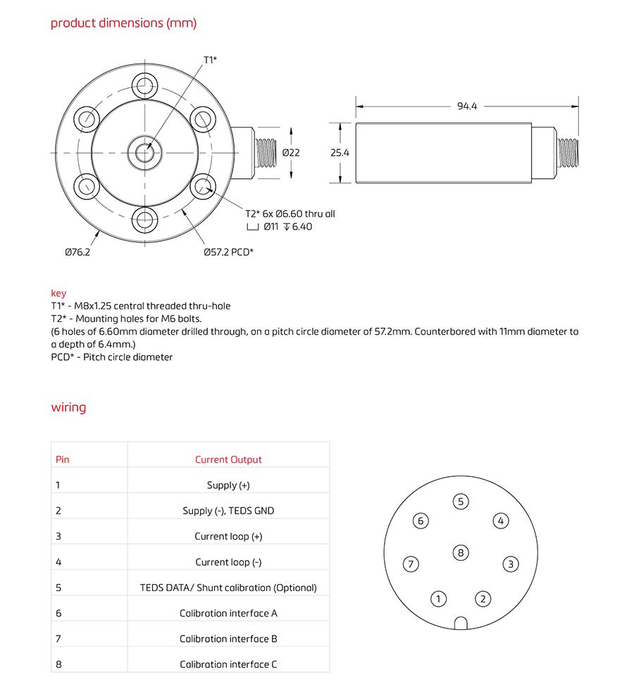 Q1智能薄微型力传感器(200-500N)-德国FLINTEC