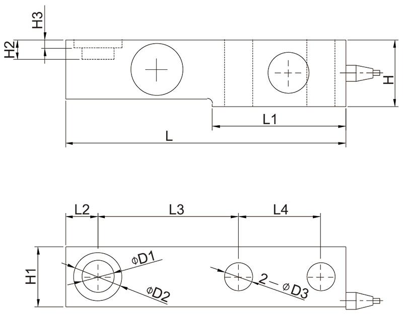 SB合金钢称重传感器_SB-1t_SB-2t_AiLogics