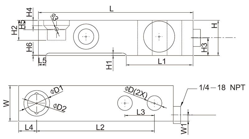 SBA系列不锈钢称重传感器量程(0.55t~4.4t)