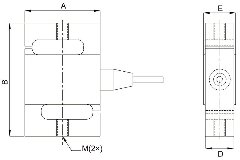 SSM称重传感器 S型剪切梁式称重传感器