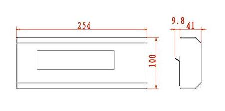 XK3190-YHL3寸普通型_大屏幕显示仪表1寸普通型
