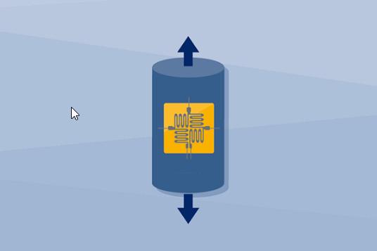 图1:惠斯通电桥电路,电桥由四个应变片连接组成