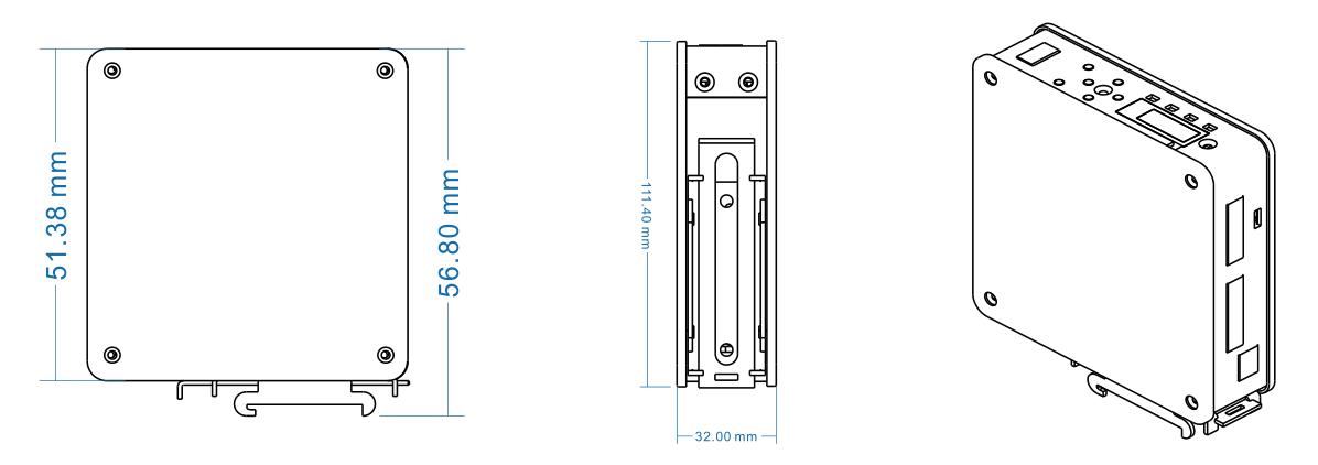 GMT-X1卡轨式称重变送模块